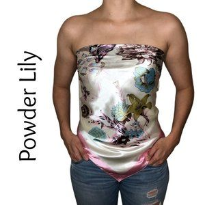 "Scarf Top - Beautiful & Soft Powder Lily 35""X35"""